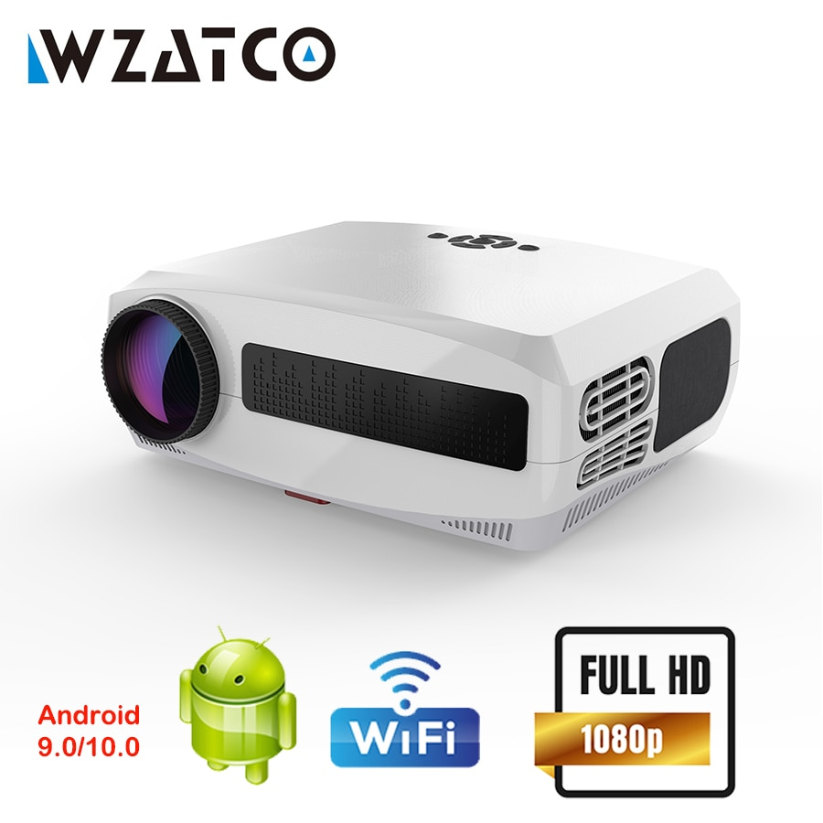 WZATCO C3 Android Projector WIFI Full HD 1080P 300 inch Proyector 3D Home Theater Smart Video Beamer Support 4D Digital Keystone