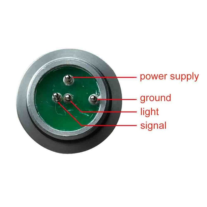 23Mm Pipeline Inspection with 12Pcs Led Lights Drain Pipe Sewer Snake Video Camera Head Wall Inspection Camera Replace Head