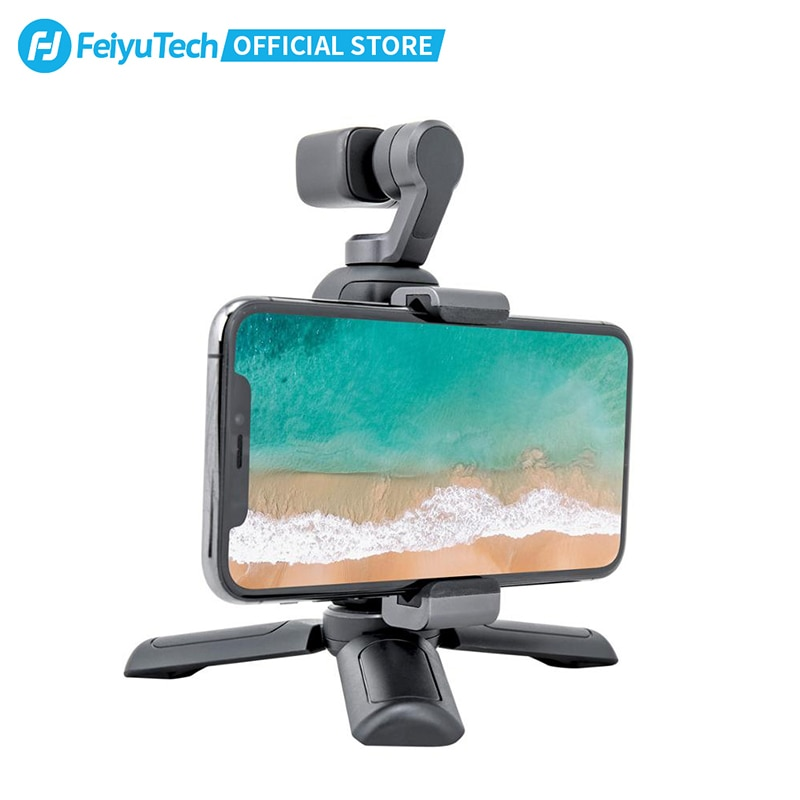 Feiyutech Feiyu Pocket Action Camera 3-Axis Stabilization 4K 60fps 270 Mins Stabilizer Integrated Camera Used With Smartphone