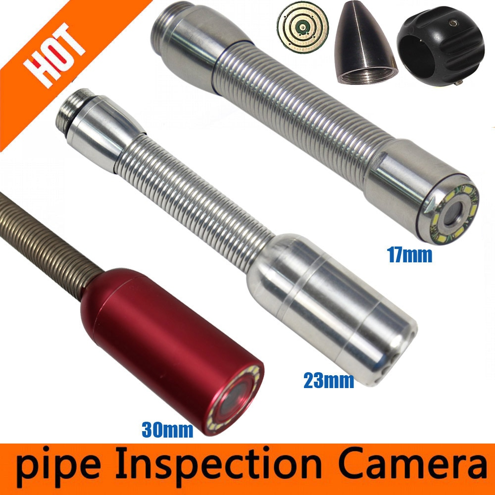 17mm camera head  23mm pipe camera 30mm auto self balancing Sewer Drain Pipe Wall Inspection Camera Replacement With LED Lights
